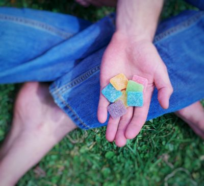 gummies in hands